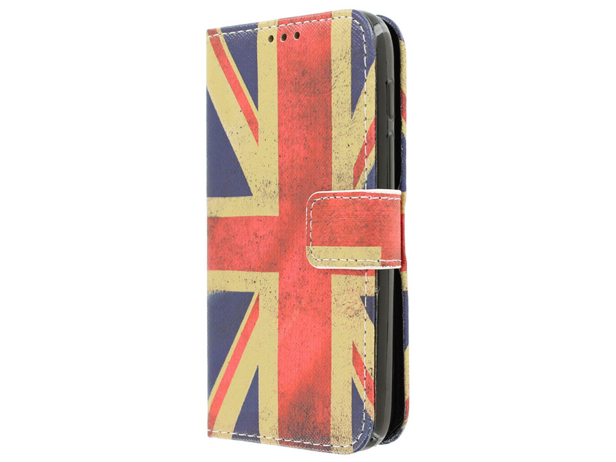 Vintage GB Flag Book Case - Alcatel PIXI 3 4.5 hoesje