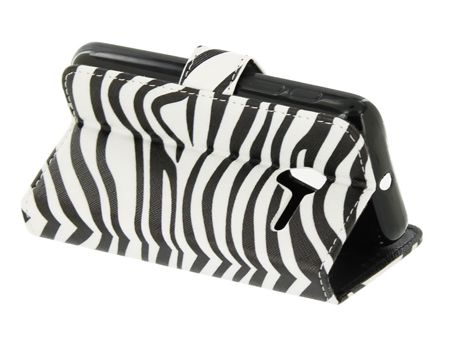 Zebra Book Case - Alcatel PIXI 3 4.5 hoesje