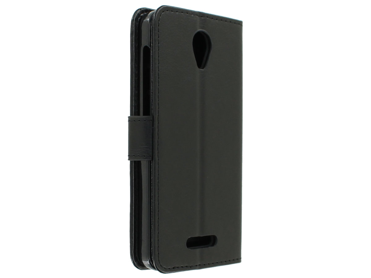 Bookcase Zwart - Alcatel Pop 4 hoesje