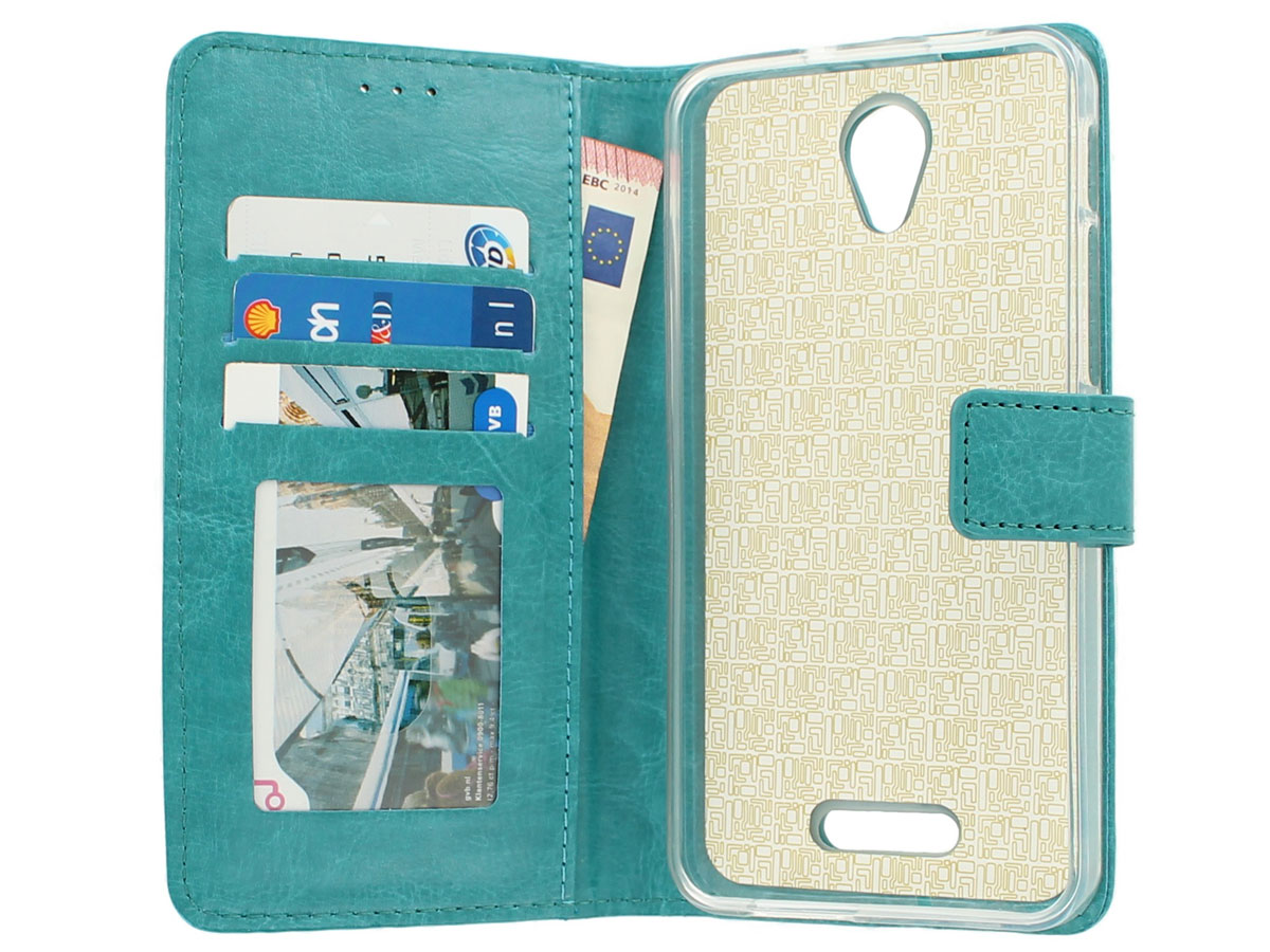 Bookcase Turquoise - Alcatel Pop 4 Plus hoesje