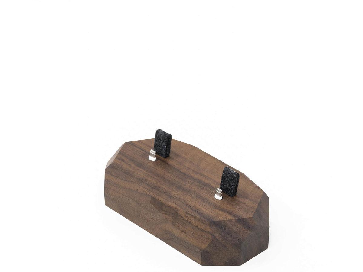 Oakywood Dual Dock Walnut - Houten Lightning/Watch Dock