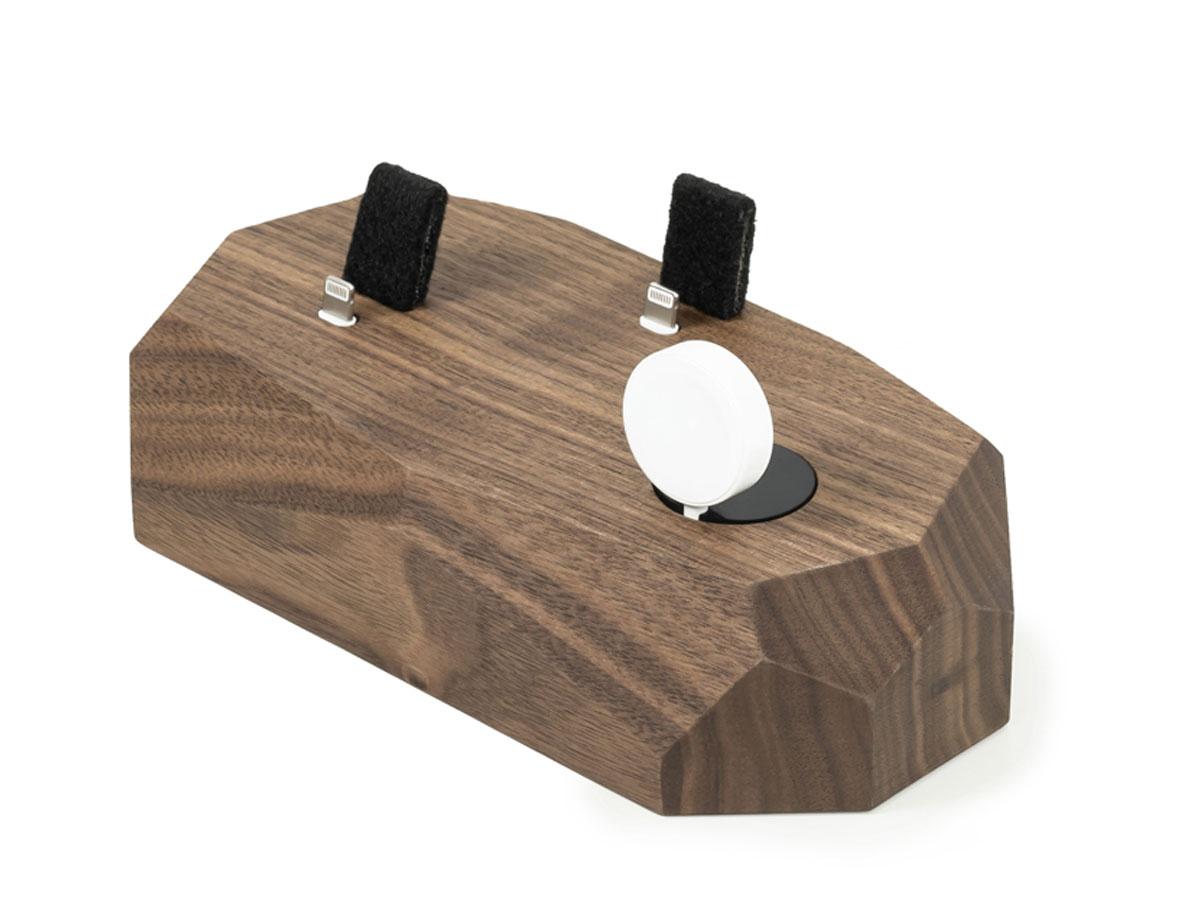 Oakywood Triple Dock Walnut - Houten Lightning/Watch Dock