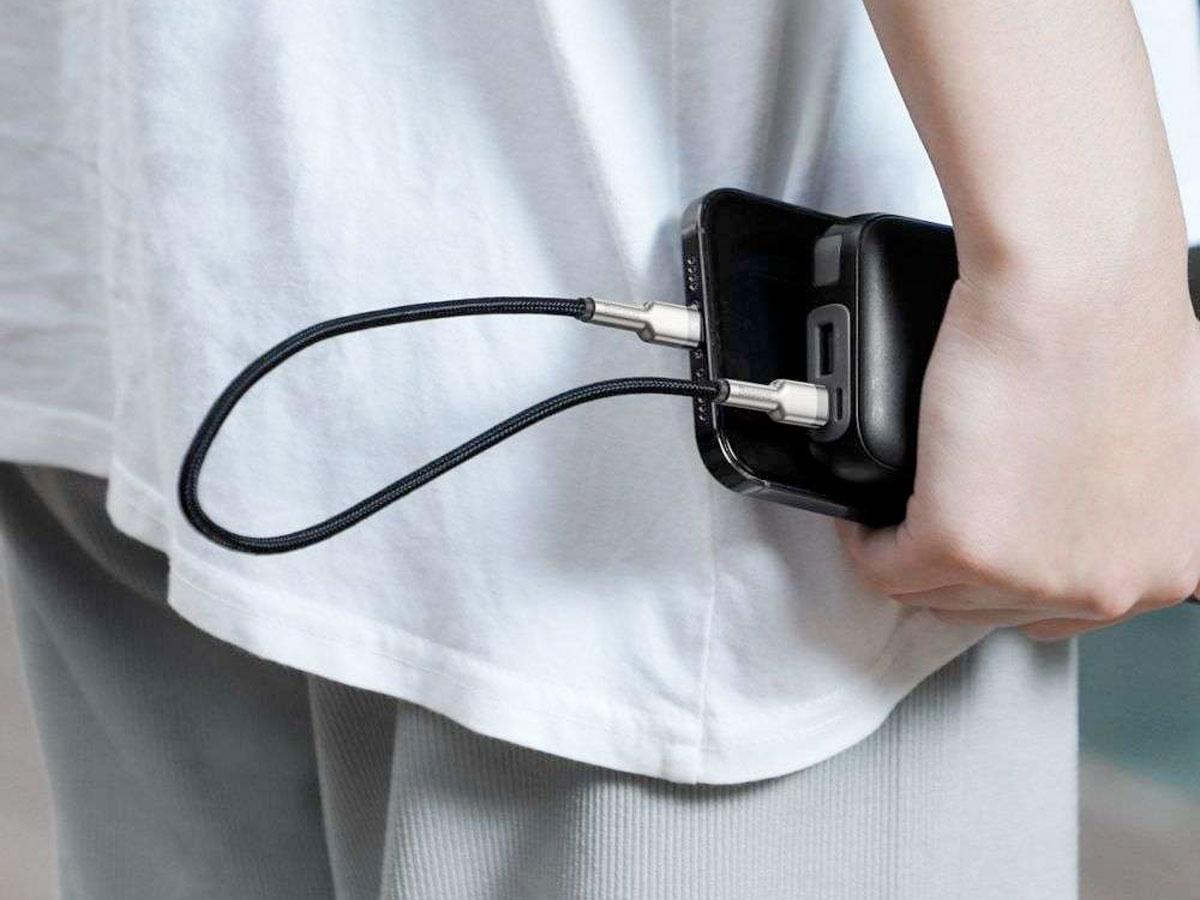 Baseus Korte USB-C naar Lightning Kabel PD 20W - 25cm