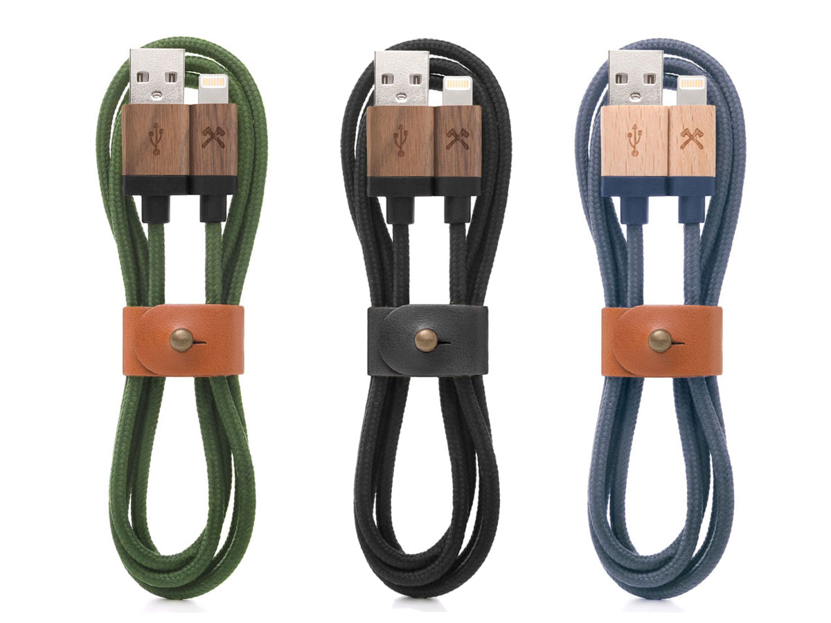 Woodcessories EcoCable - Houten Lightning kabel (120cm)