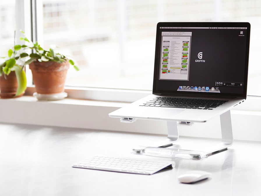 Griffin Elevator Laptop Stand voor MacBook (Zilver)