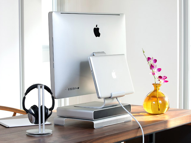 Just Mobile AluRack Laptop Mount voor iMac & Cinema Display