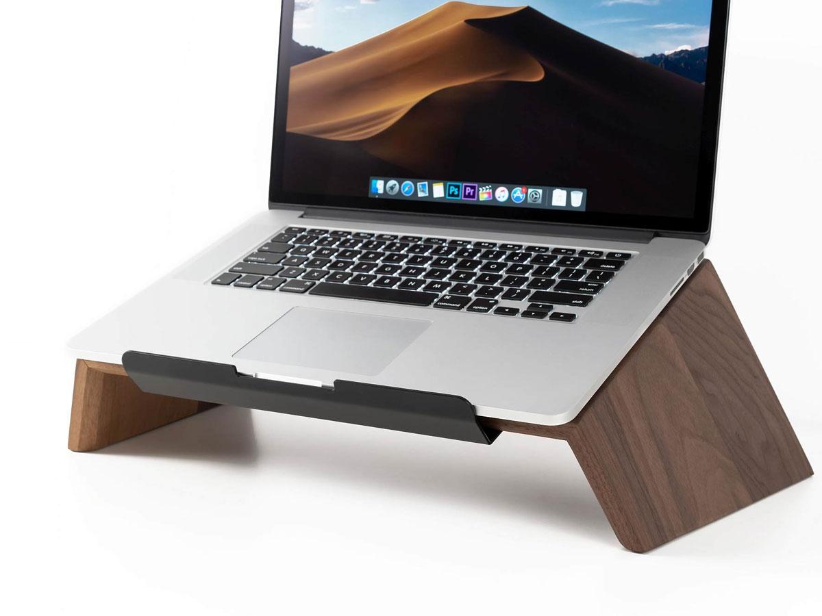 Oakywood Laptop Stand Walnut - Houten MacBook Laptop Standaard Walnotenhout