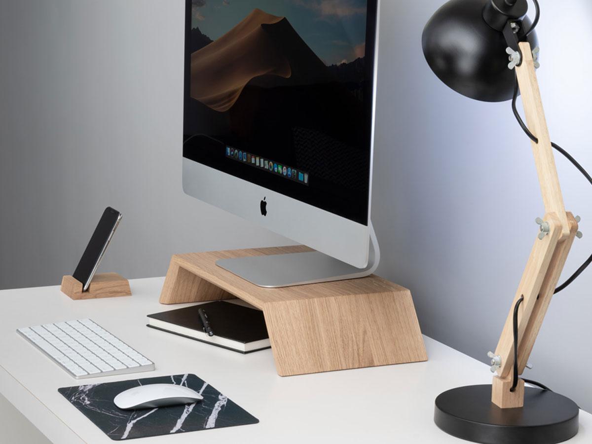 Oakywood Monitor Stand Oak - Houten iMac Beeldschermverhoger