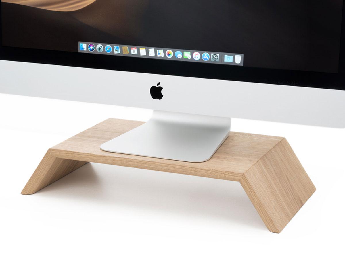 Oakywood Monitor Stand Oak - Houten iMac Beeldschermverhoger Eiken