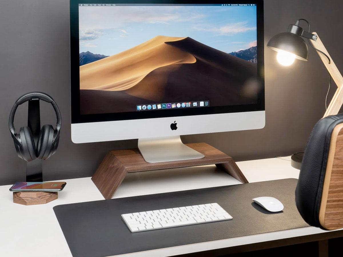 Oakywood Monitor Stand Walnut - Houten iMac Beeldschermverhoger