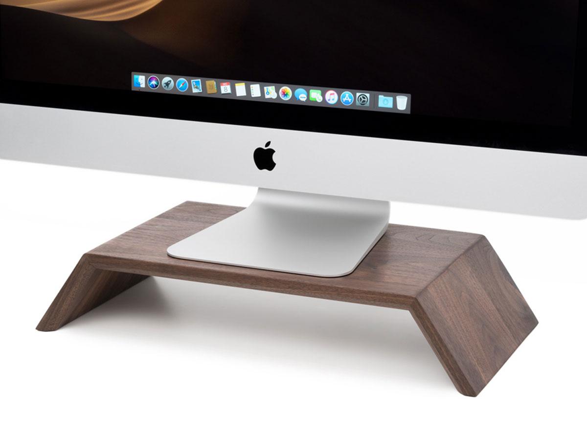 Oakywood Monitor Stand Walnut - Houten iMac Beeldschermverhoger Walnotenhout