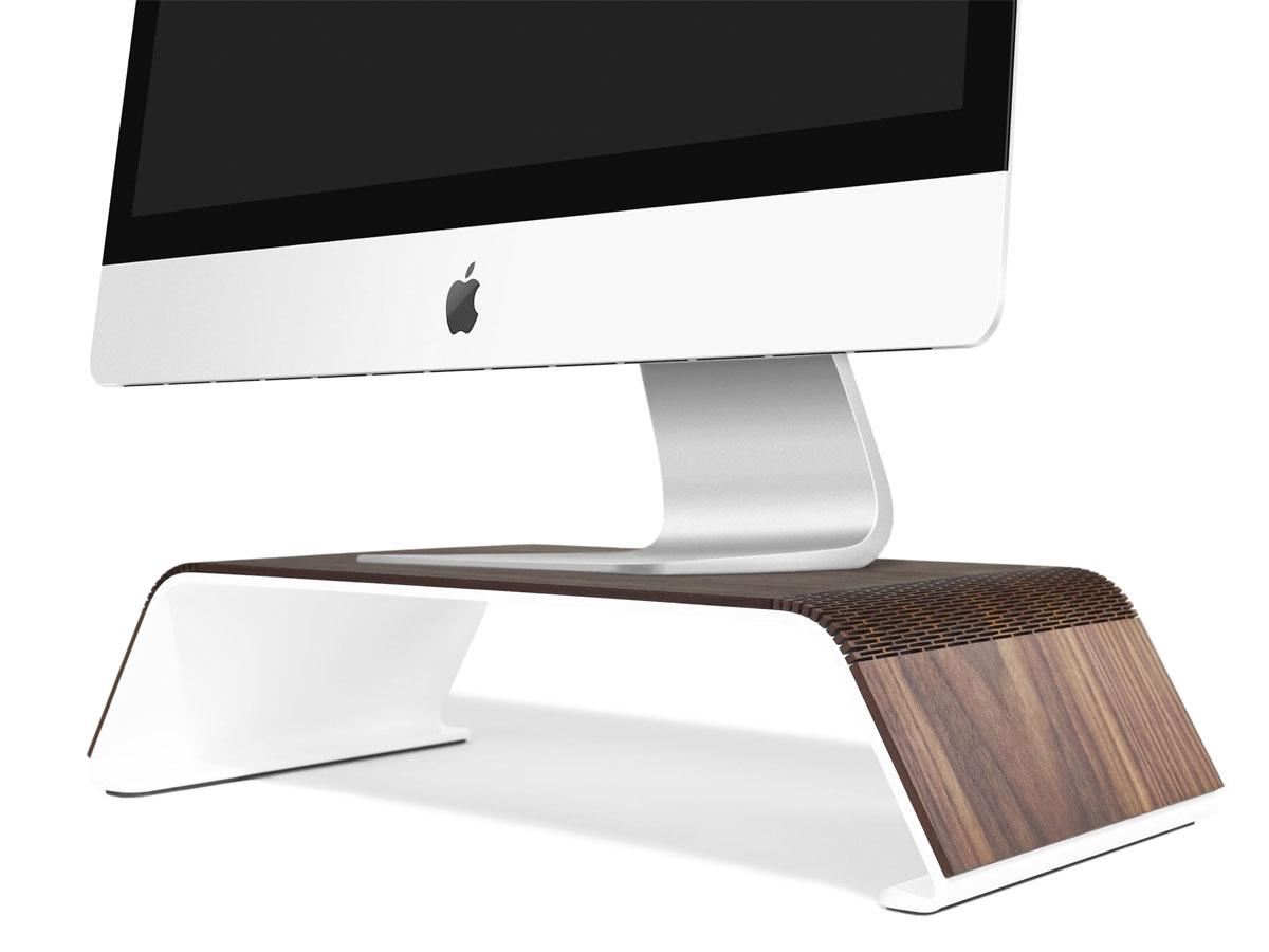 RAUW iMac Stand - Houten Design Monitor Standaard Walnotenhout