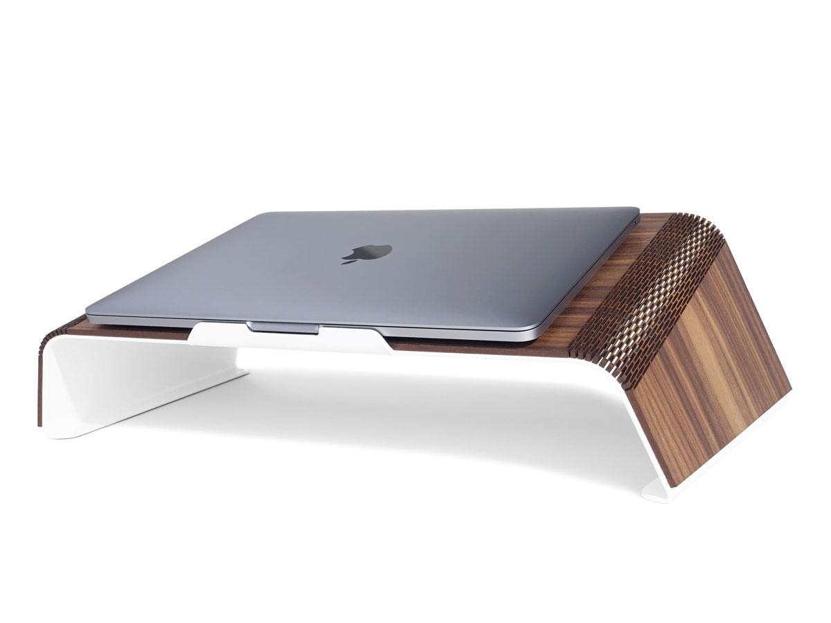 RAUW MacBook Stand - Houten Design Laptop Standaard Walnotenhout