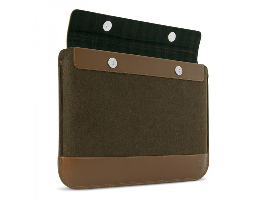 Belkin Felt Wool Lederen Sleeve voor Macbook & Ultrabook (13 inch)