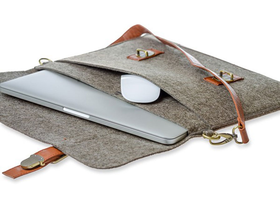 Macbook Tas Dames : Gecko vilten tas voor macbook inch kloegcom