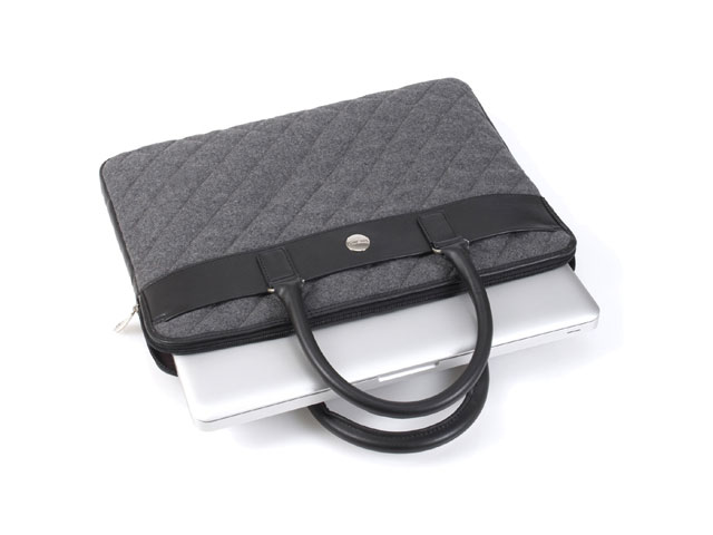 Knomo Avignon Slim Brief Grey Felt voor MacBook (13 inch)
