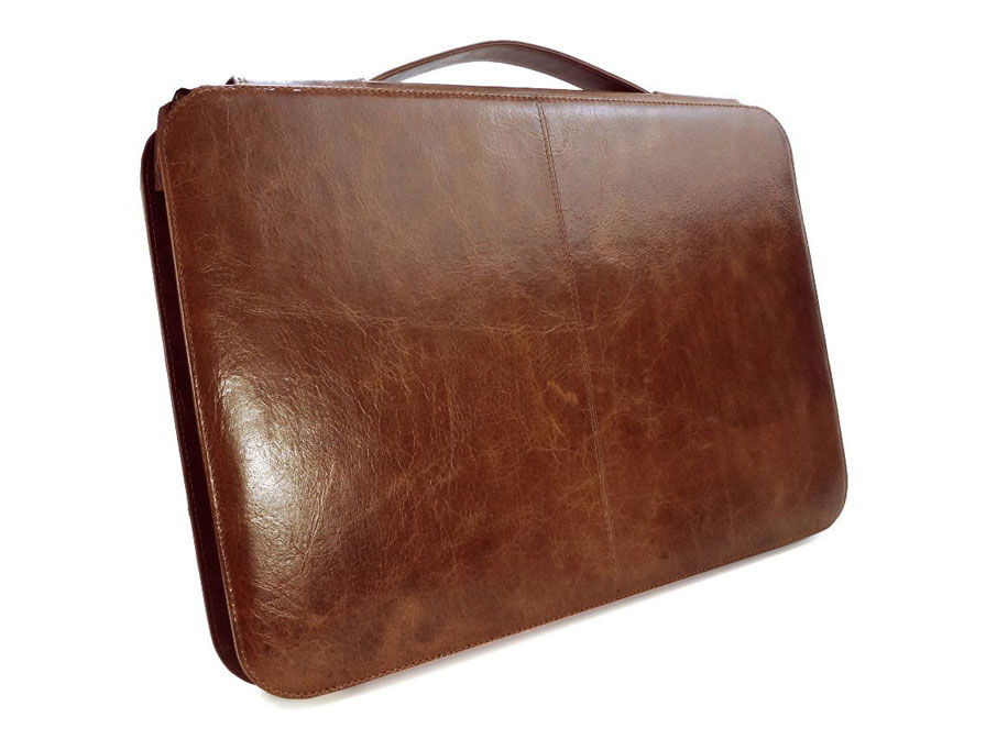 Alston Craig Vintage Leather Briefcase - voor MacBook Air / Pro Retina