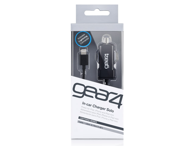 Gear4 1A Lightning In-Car Charger Oplader voor iPod en iPhone