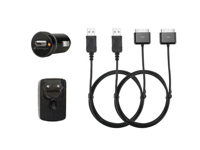 Kensington USB Opladerpakket - Autolader + Thuislader Zwart