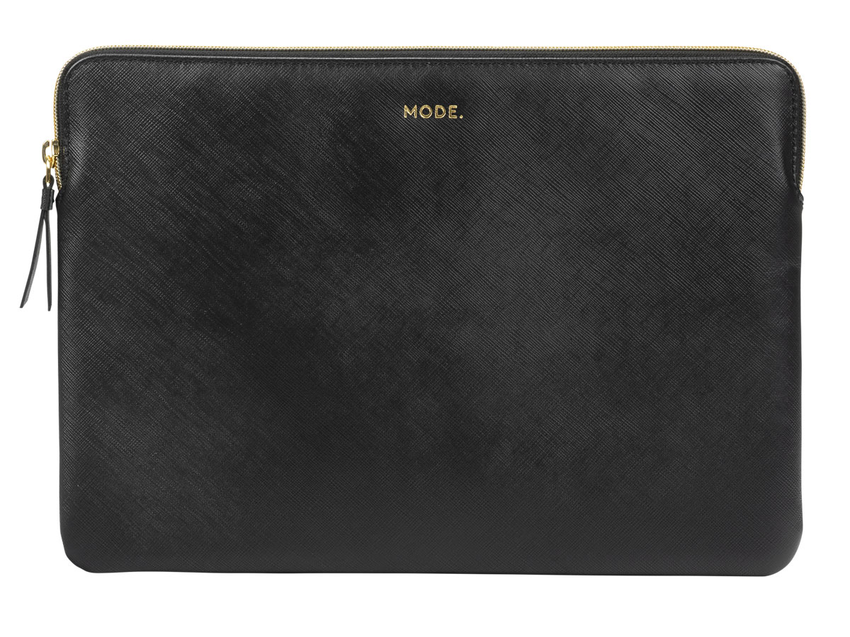 dbramante1928 MODE. Paris Sleeve Zwart Leer - MacBook Pro 16