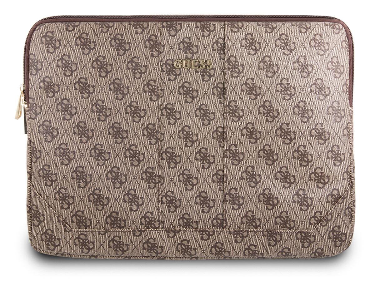 Guess Monogram Laptop Sleeve Bruin - 13 inch MacBook Hoes