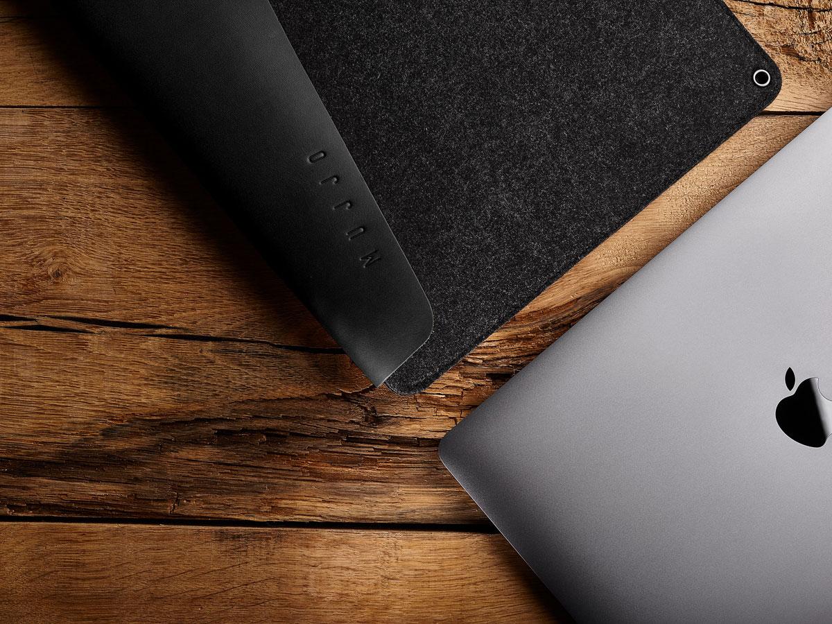 Mujjo Envelope Sleeve Zwart - MacBook Pro 15