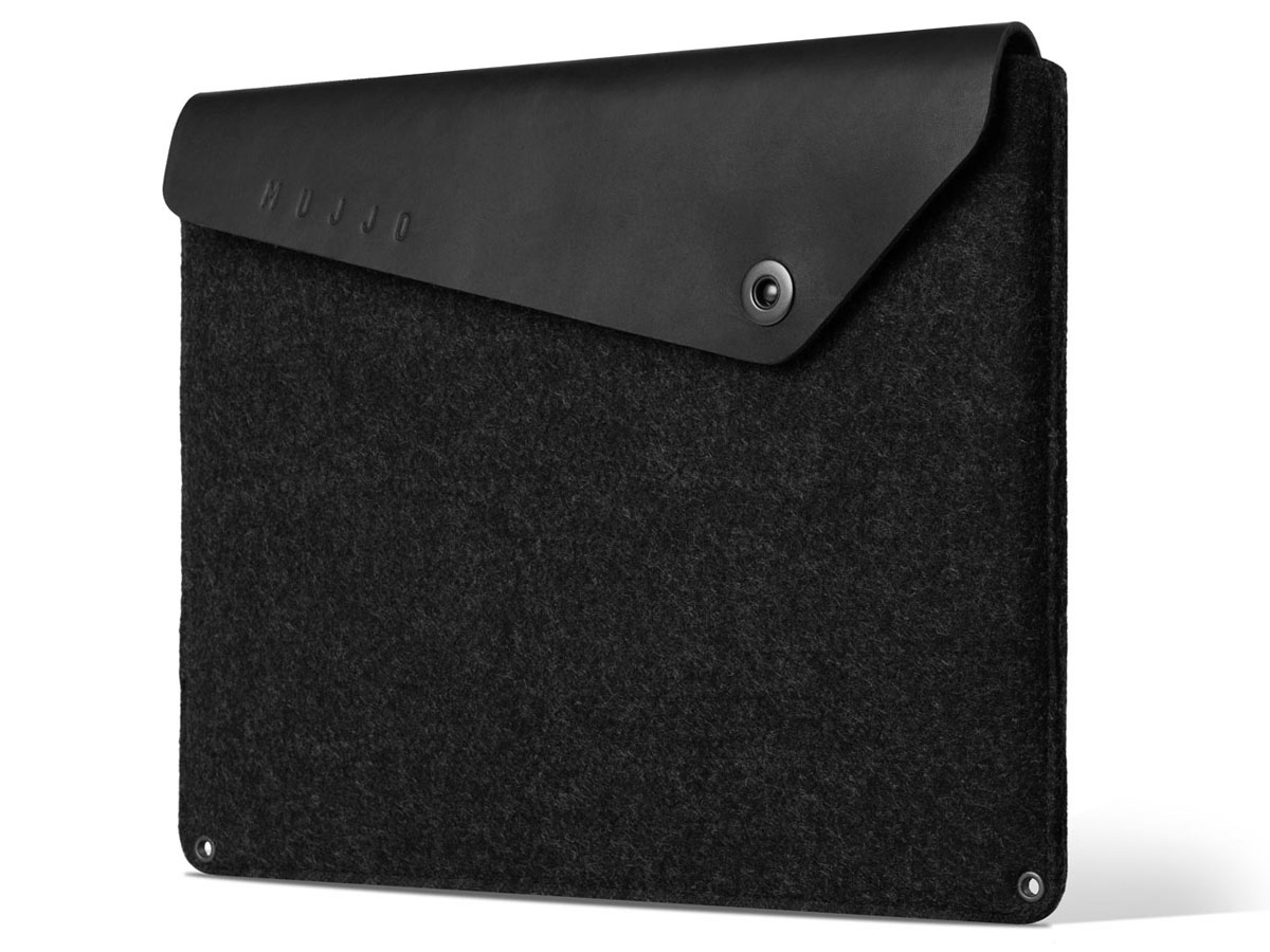 "Mujjo Envelope Sleeve Zwart - MacBook Pro 16"" Hoes"