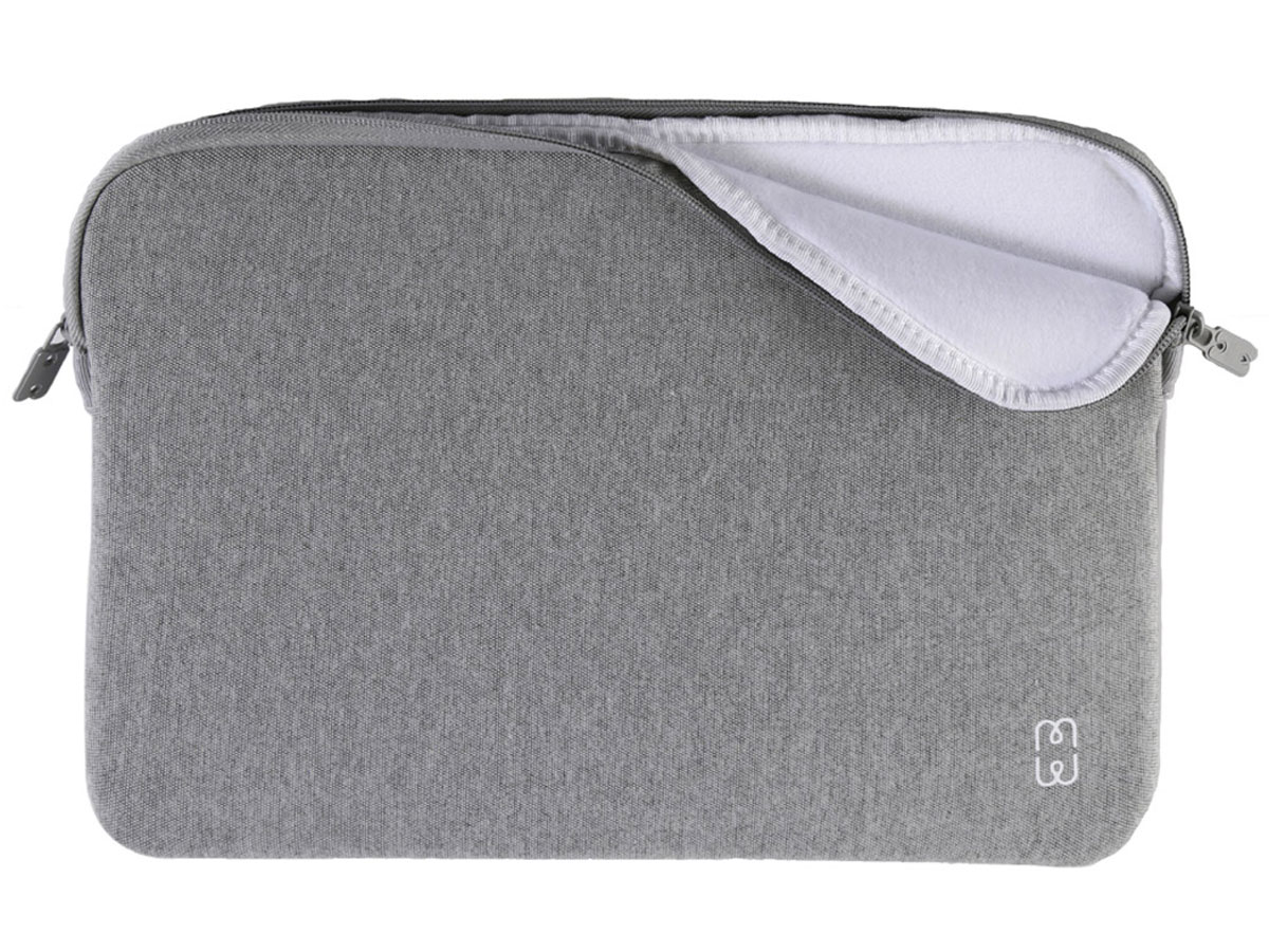 "MW Fitted Sleeve Grey White - MacBook Pro 16"" Hoes Lichtgrijs"
