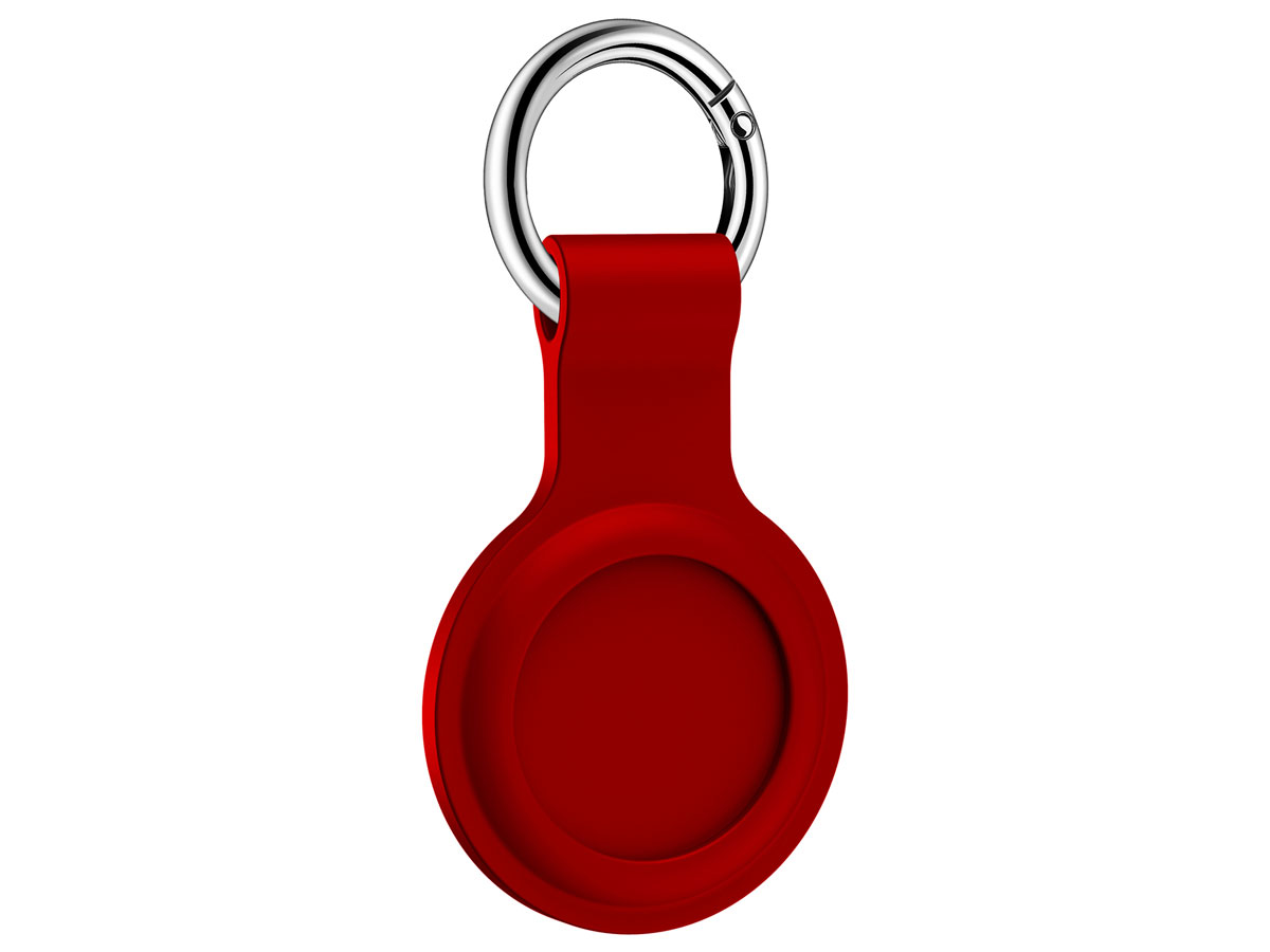 Sdesign Silicone AirTag Case Sleutelhanger Hoesje - Rood