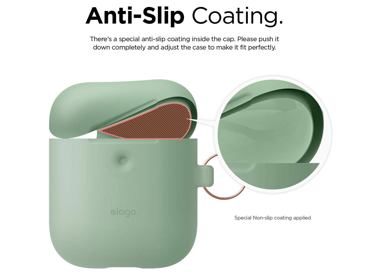 Elago Hang Case voor AirPods Wireless Charging Case - Groen