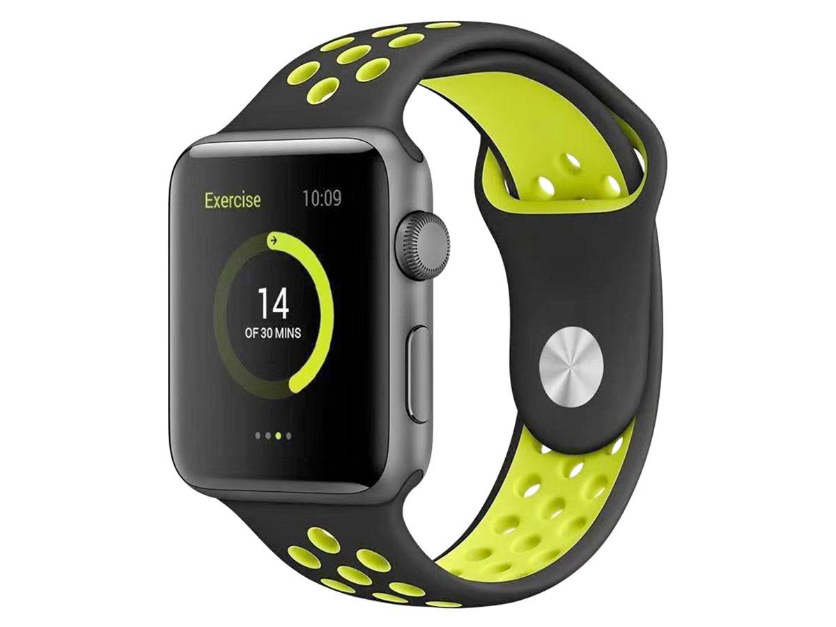 BeHello Silicone Sport Strap Geel - Apple Watch Bandje 38/40mm