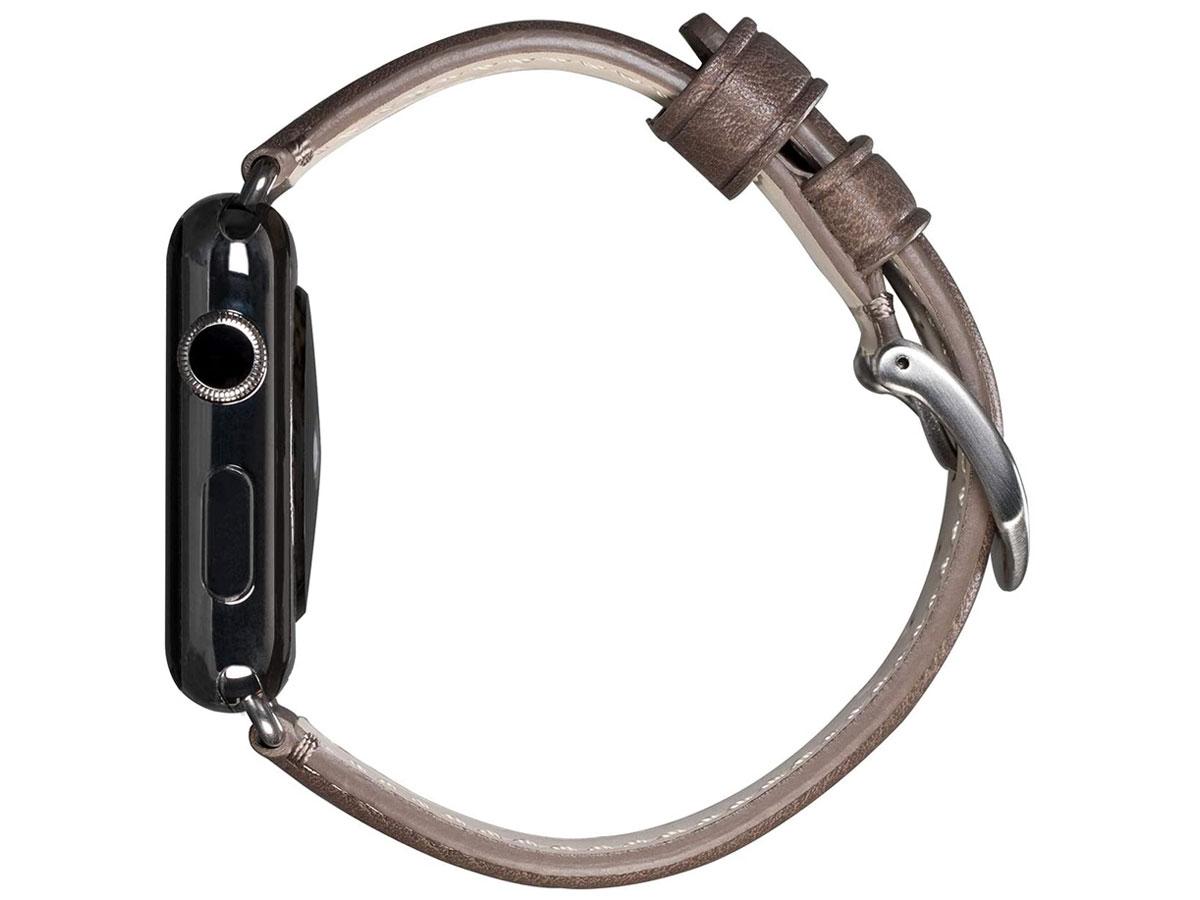 Sena Heritage Leather Strap Grijs - Apple Watch Band 42/44mm