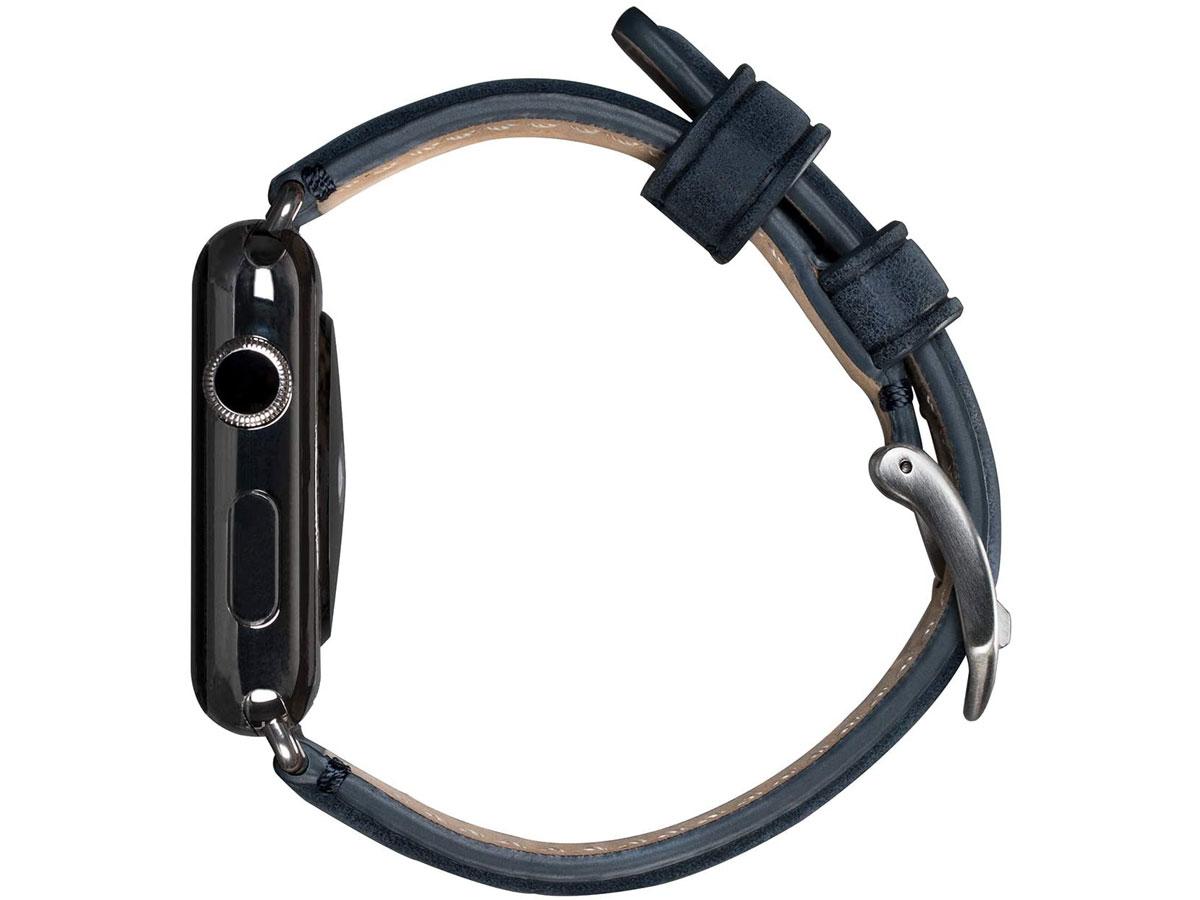 Sena Heritage Leather Strap Blauw - Apple Watch Band 42/44mm