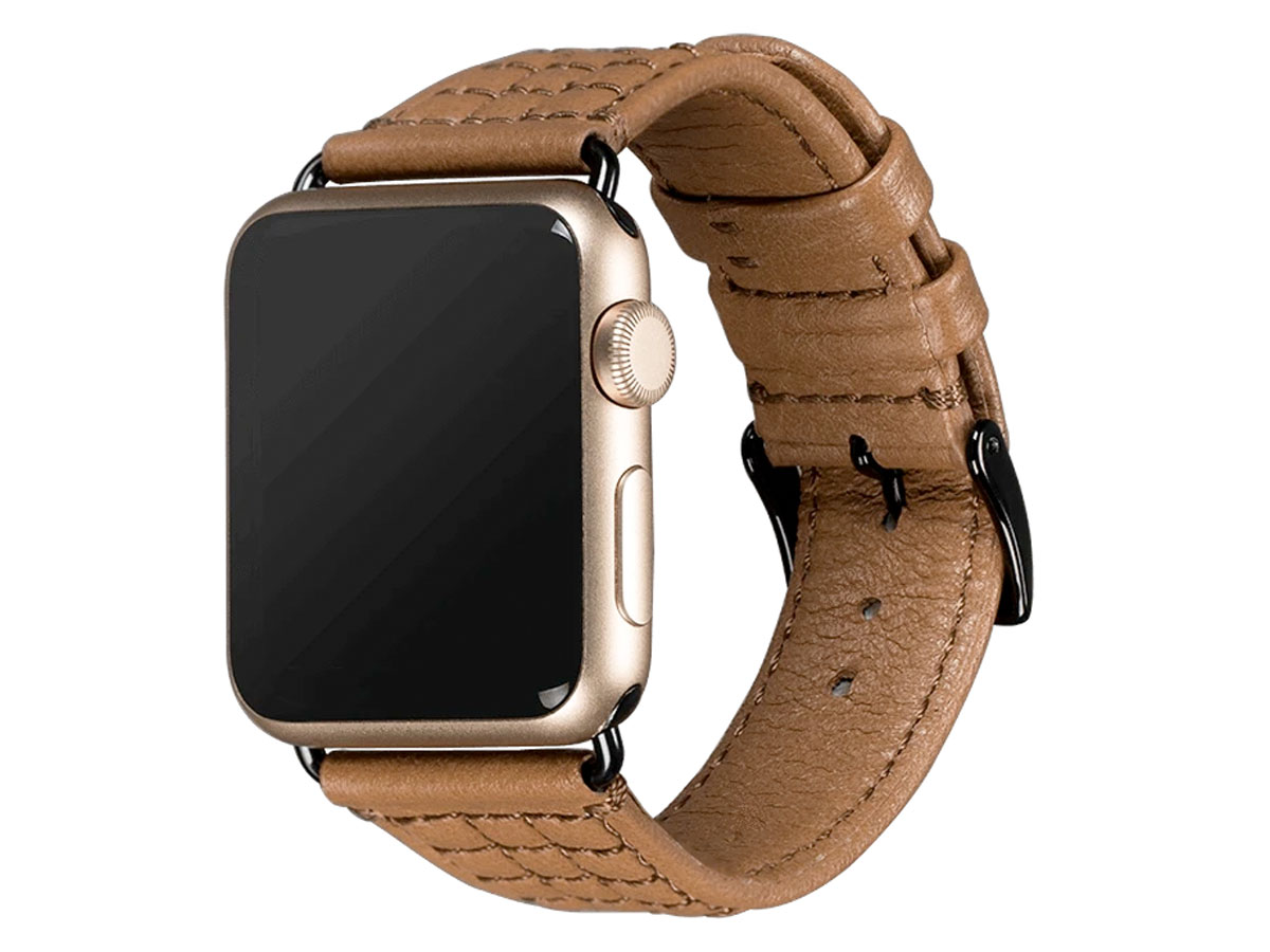 Sena Isa Leather Strap Caramel - Apple Watch Band 38/40mm Bruin