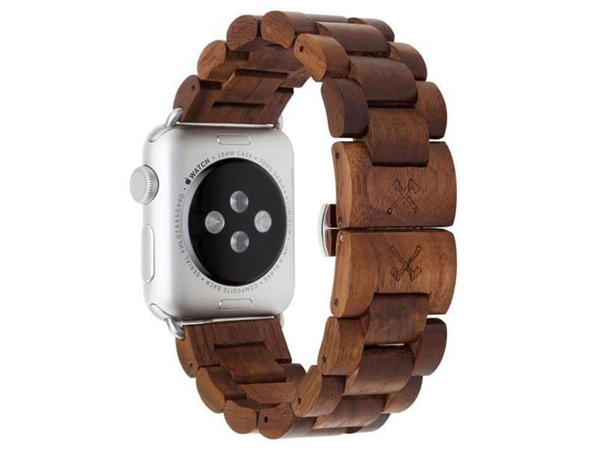 Woodcessories EcoStrap - Houten Apple Watch Band 42/44mm (Zilver)
