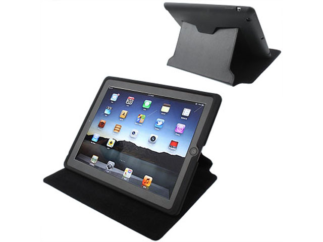 3-in-1 Silicone Stand Case Skin Hoes voor iPad 2, 3 & 4
