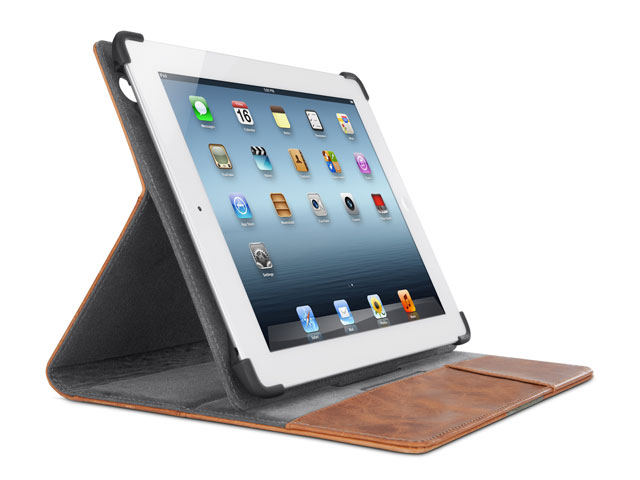 Belkin Full-Grain Leather Cover met Stand voor iPad 2, 3 & 4