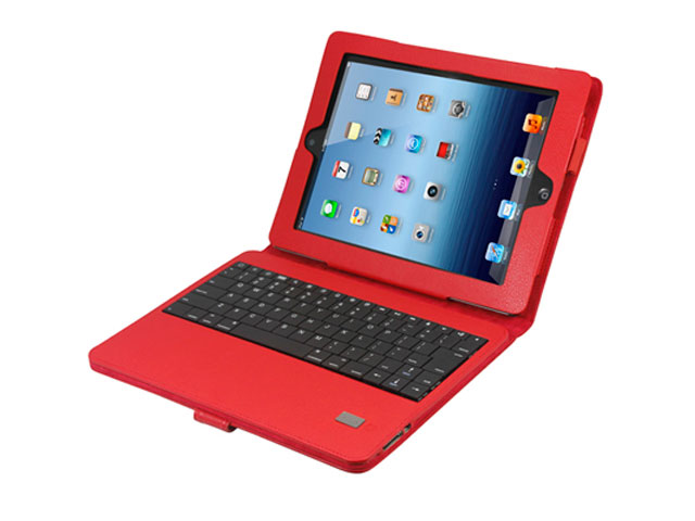 Colored Kunstleren Case voor iPad 2, 3 & 4 met Bluetooth Keyboard