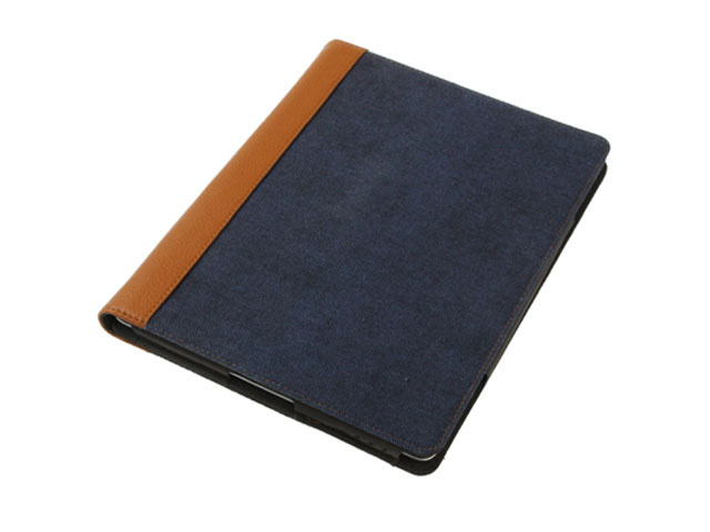 Denim Deluxe Stand Case Hoes Cover voor iPad 2, 3 & 4 (Statis)