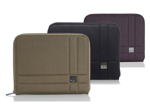 Knomo Brixton Journal Case Sleeve voor iPad Legergroen