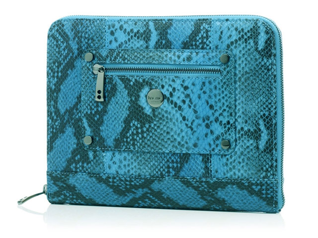 Knomo Dragonfly Zip Sleeve - Leren Tablet Clutch