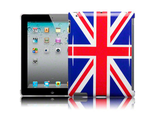 Great Brittain Flag Smart Back Case Cover voor iPad 2, 3 & 4