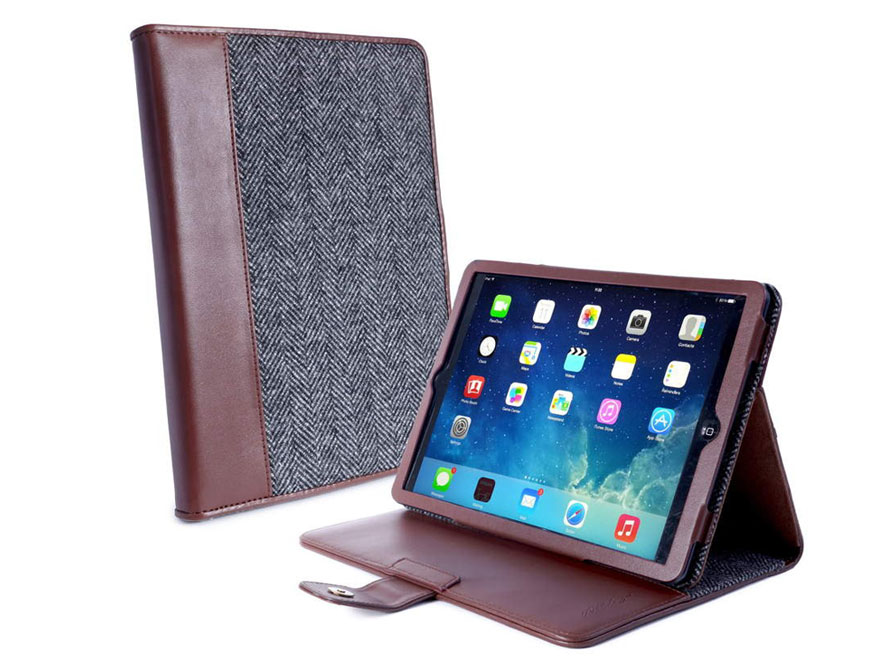 Alston Craig Herringbone Slim Stand - Hoes voor iPad Air