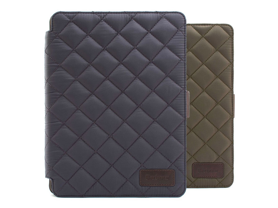 Barbour Quilted Folio Stand Case - Hoes voor iPad Air