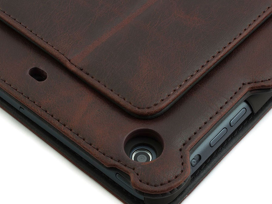 Barbour Leather Folio Stand Case - Hoes voor iPad Air