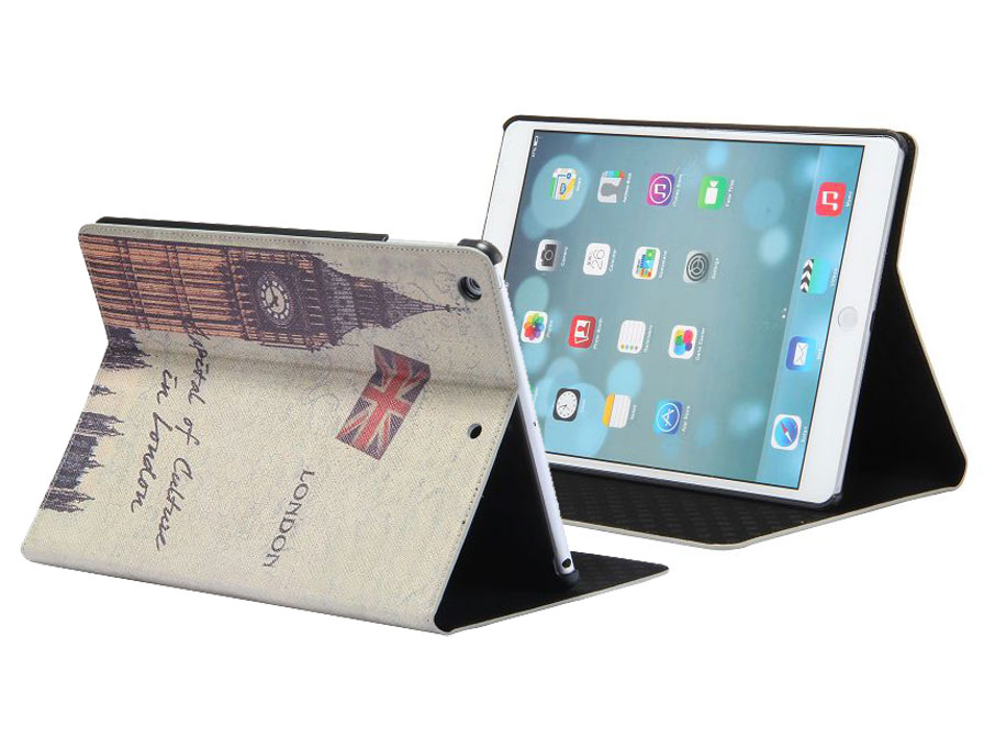 London Retro Stand Case - iPad 9.7 2017 / Air 1 hoesje