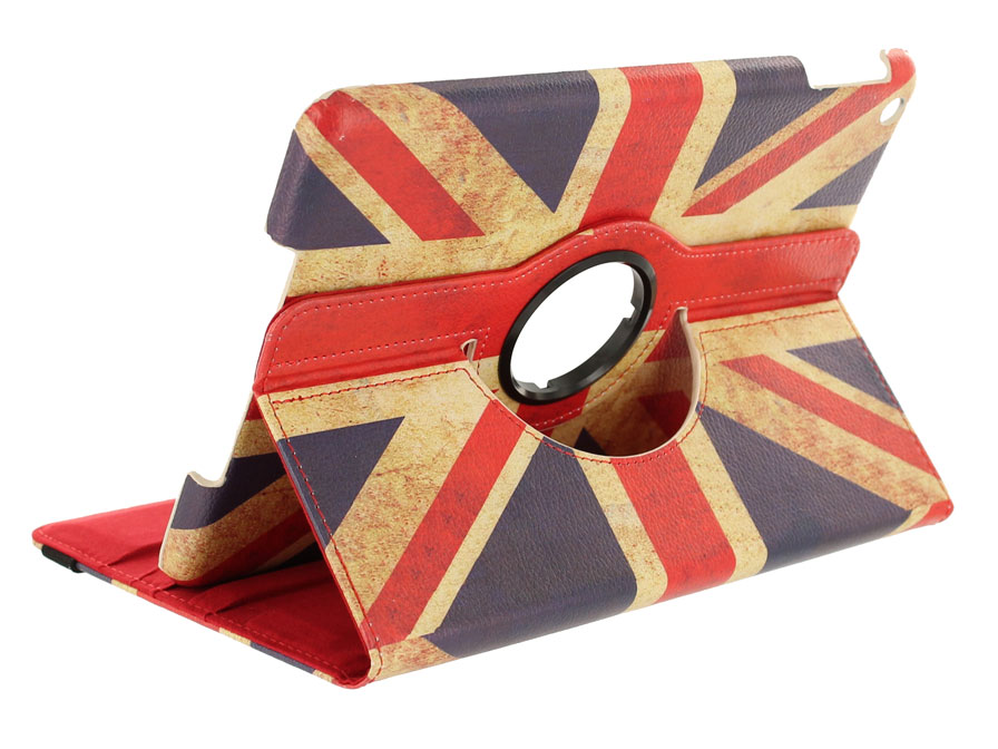 Vintage GB Flag 360 Case - iPad 2018/2017/Air 1 hoesje