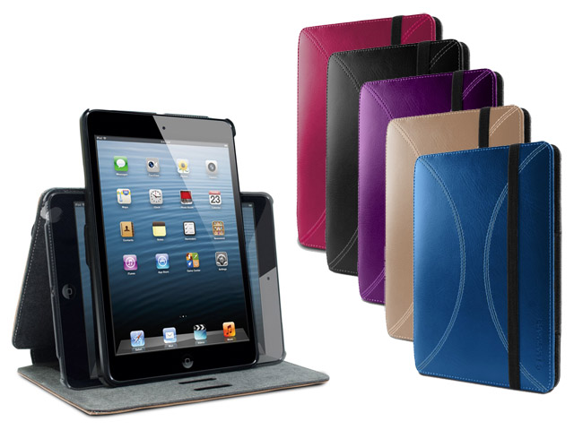 Marblue Axis 360 Stand Case - Leren iPad mini 1 Hoesje Paars