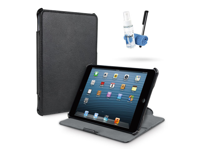 Muvit Starter Kit voor iPad Mini: Case, Screenprotector, Stylus + meer Zwart