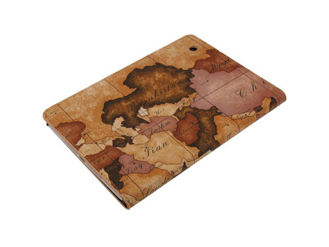 Antique World Stand Case Hoes Cover voor iPad Mini